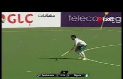 مباراة جنوب إفريقيا ونيجيريا ضمن بطولة أمم إفريقيا للهوكى رجال