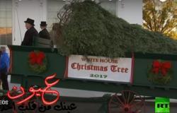 شاهد.. لحظة وصول شجرة الميلاد إلى البيت الأبيض.. وميلانيا ترامب في استقبالها