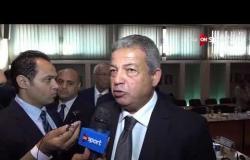 مساء الأنوار - لقاءات مع م. خالد عبد العزيز و هشام حطب من اجتماع الوزير بأعضاء اللجنة الأولمبية
