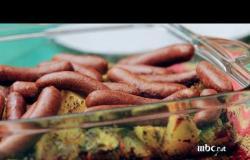 """وصفة سريعة وصحية """"صينية خضار بالسجق الشرقي"""" من حلواني"""