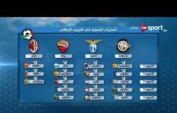 الكالشيو - المباريات المتبقية في الدوري الإيطالي