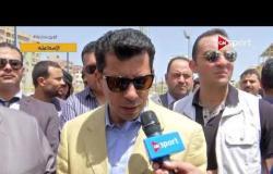 لقاء خاص مع وزير الشباب والرياضة في جولة تفقدية للإندية ومراكز الشباب في محافظة الإسماعيلية