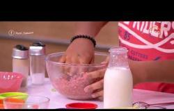 """السفيرة عزيزة - المطبخ مع """" ملك و مهاب """" يقدموا طريقة عمل ( مكرونة باللحم المفروم - كفتة لبناني  )"""