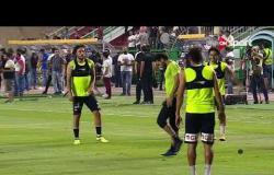 رئيس فريق المقاولون يحفز لاعبيه قبل مباراة الزمالك