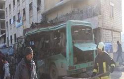 3 قتلى مدنيين بانفجار حافلة في عفرين السورية (شاهد)