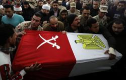 تشييع جثامين الجنود المصريين الذين لقوا حتفهم شمالي سيناء (فيديو وصور)
