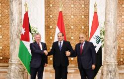 قادة مصر والعراق والأردن يعقدون قمة في القاهرة