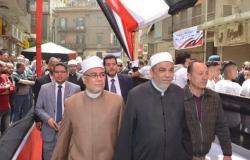 قيادات وأئمة الأوقاف يدلون بأصواتهم في الاستفتاء على التعديلات الدستورية