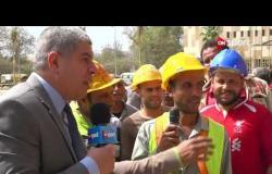 العاملين في تطوير ستاد القاهرة يتحدثون عن عملهم في الاستاد