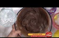 مطبخ الهوانم - طريقة عمل براونيز بعين الجمل والايس كريم