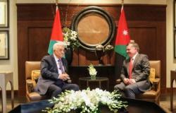 الملك يستقبل الرئيس الفلسطيني