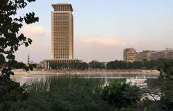 """شاهد... إضاءة مبنى وزارة الخارجية المصرية بكلمة """"أفريقيا"""""""