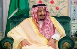 """بالصور.. الملك سلمان يستقبل ولي عهد دبي ورئيس """"الأمة"""" الكويتي"""