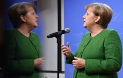 """""""الرعشة"""" تصيب ميركل خلال لقائها الرئيس الأوكراني (فيديو)"""