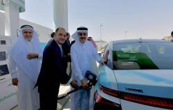أرامكو السعودية تطلق أول محطة لتزويد السيارات بوقود الهيدروجين بالمملكة