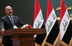 أمير الكويت يصل بغداد ويلتقى الرئيس العراقي برهم صالح