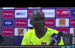 جانب من المؤتمر الصحفى قبل مباراة الكاميرون وغينيا بيساو
