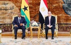 تفاصيل لقاءات السيسي برئيس غانا ومفوض الاتحاد الأوروبي لشئون الهجرة