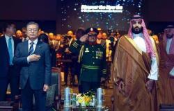 """بالفيديو والصور...ولي العهد السعودي يدشن توسعة مصفاة """"أس أويل"""""""