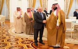 مسؤول:ولي عهد السعودية يناقش قضايا الطاقة مع بوتين بقمة العشرين
