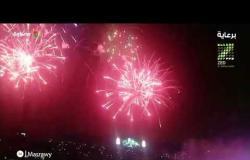 الألعاب النارية تغطي ستاد القاهرة في ختام مباراة نهائي كأس الأمم الإفريقية