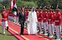 محمد بن زايد يصل إلى جاكرتا (صور)