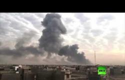 شاهد.. انفجارات تهز معسكرا للحشد الشعبي في بغداد