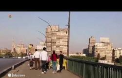 """رابع أيام العيد على """"كوبري الجامعة""""..وإقبال ضعيف على المراكب النيلية"""