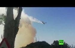 شاهد.. حرائق غابات في جزر الكناري والفرار 9 آلاف شخص