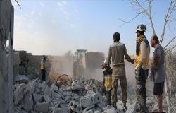 بالفيديو : مقتل طفلين وجرح 6 مدنيين في قصف روسي على إدلب