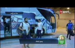 وصول لاعبي الزمالك لستاد برج العرب قبل مواجهة ديكاداها