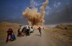 الحشد الشعبي ينشر فيديو للحظة الضربة الإسرائيلية على موقعه في العراق