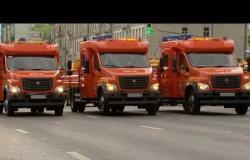 بلدية موسكو تستعرض أسطول سياراتها في شوارع العاصمة