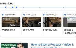 جوجل تبرز اللحظات المهمة في مقاطع الفيديو ضمن محرك البحث