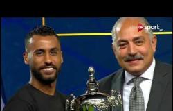 مراسم تسليم كأس السوبر المصري للأهلي وفرحة عارمة للاعبين