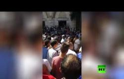 فيديو جديد لتشييع جنازة الفنان المصري طلعت زكريا