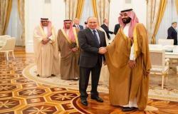 استقرار أسواق النفط يتصدر مباحثات ولي عهد السعودية والرئيس الروسي