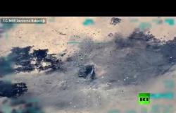 فيديو.. تركيا تنشر فيديو استهداف بصاروخ  هائل مخبأ لقسد