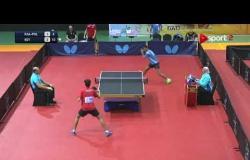 عمرو محفوظ لاعب منتخب مصر لتنس الطاولة يفوز على خالد الشريف لاعب السعودية ببطولة مصر الدولية