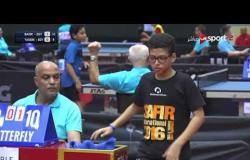 مباراة  بدر مصطفى Vs ياسين وائل (2-0) - بطولة مصر الدولية لتنس الطاولة