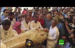 مصر.. أكبر اكتشاف أثري للتوابيت الفرعونية الملونة