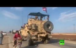 قافلة شاحنات ومصفحات أمريكية تدخل الأراضي السورية