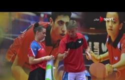 مباراة نهائي الناشئين بنات تحت 18 سنة - روسيا ضد تايوان - بطولة مصر الدولية لتنس الطاولة
