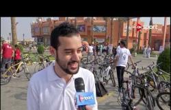 لقاءات على هامش ماراثون الدراجات بجامعة مصر للعلوم والتكنولوجيا بحضور وزير الرياضة