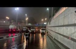 محافظ القاهرة يتابع سحب مياه الأمطار من نفق العروبة