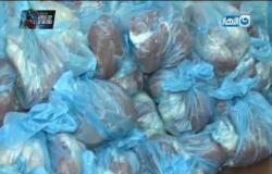 واحد من الناس يساهم في توزيع اللحوم غلى  200 اسرة في ملوي بالمنيا