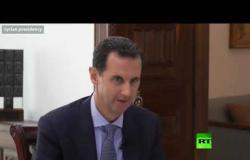 الأسد يعلق على تظاهرات لبنان