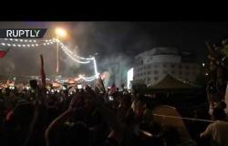 العراقيون يحتفلون بفوز منتخبهم التاريخي على إيران