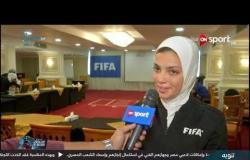 لقاءات من ختام دورة محكمات كرة القدم