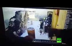 لحظة انهيار جدار كنيسة أثرية في مصر